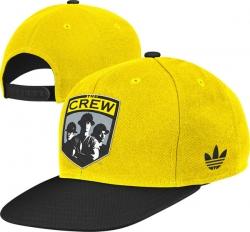 Columbus Crew Yellow adidas Flat Brim Snapback Adjustable Hat f87b714192e7