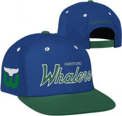 a1b5ca0fa02aa Hartford Whalers Mitchell   Ness Retro Team Arch 2-Tone Snapback Hat