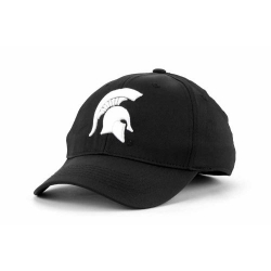 the best attitude f102e f5614 Michigan State Spartans Top of the World NCAA Blacktel Stretch Fitted Cap
