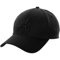 ac7f9b0fbd1 New Era Atlanta Braves 39Thirty Tonal Classic Flex Hat - Navy Blue