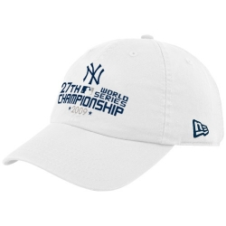 9780d32c5a395 New Era New York Yankees White 2009 World Series Champions 27-Time Champions  Adjustable Slouch Hat