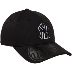 ec05a24f3 New Era New York Yankees White-Navy Blue-Gray 9FIFTY Script Wheel Snapback  Adjustable Hat