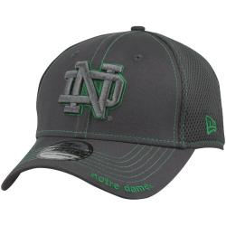 more photos 45144 a9753 New Era Notre Dame Fighting Irish Graphite Neo 39THIRTY Flex Hat - Charcoal
