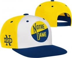 01f2e8976e1 Notre Dame Fighting Irish adidas Vault Logo Flat Brim Adjustable Snapback  Hat