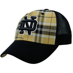 696b19161f0e8b Top of the World Notre Dame Fighting Irish Gold-Navy Blue Full Force Adjustable  Hat
