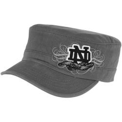 b83df25372c168 Top of the World Notre Dame Fighting Irish Ladies Fierce Adjustable Cadet  Hat - Charcoal