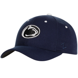 0d1c036151e Zephyr Penn State Nittany Lions Navy Blue-White-Gray Triple Play Fitted Hat
