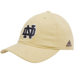 136c3d38ab91a adidas Notre Dame Fighting Irish Gold Youth Outlined Logo Adjustable Slouch  Hat